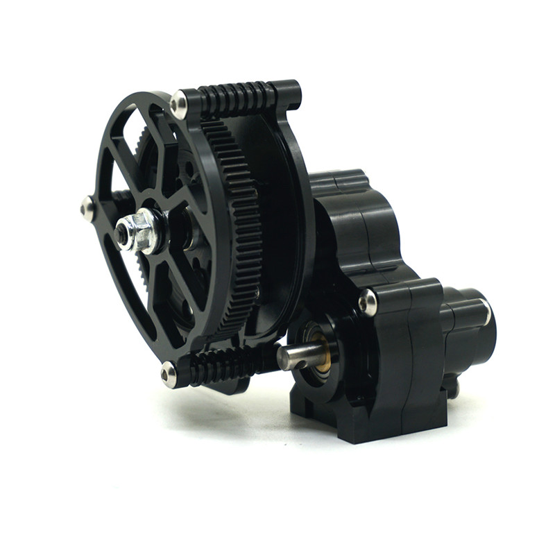 цена 1PC Black Top Quality 1/10 RC Crawler SCX10 All Metal Transmission / Center Gearbox for 1/10 Axial SCX10 Gear Box Reverse Parts