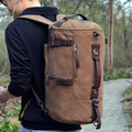 Многофункциональный-GYMbag Мужчины Съемный Рюкзак мужской Корейской Холщовый мешок студенческие рюкзаки с excersice дорожная сумка