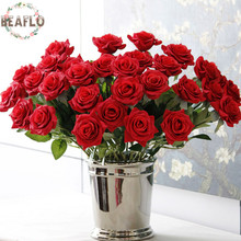 Фотография 15PCs/lot Artificial Flowers Love Rose Silk Cloth Handmade for Wedding Home Party Decorative