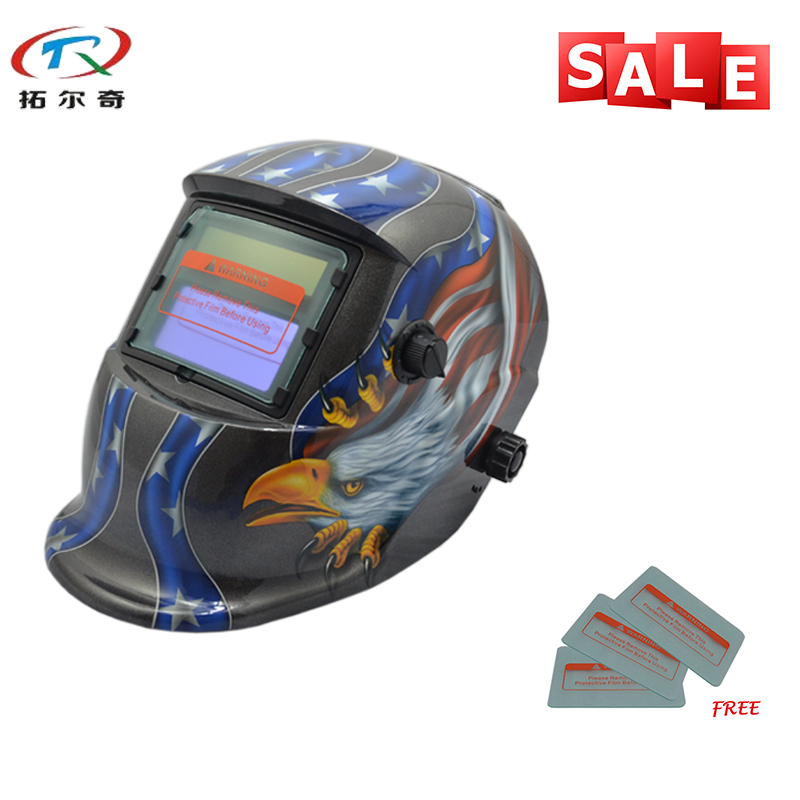 Trend Mark Fast Delivery Replaceable Battery Good Quality Electronic Custom Auto Darkening Welding Helmet Trq-hd17-2233ff In Pain Tools