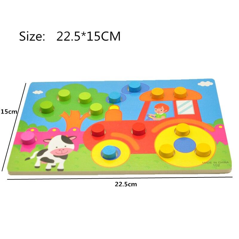 Träleksaker Tangram / Jigsaw Board Cartoon Puzzle Jigsaw Kids Early - Spel och pussel - Foto 4
