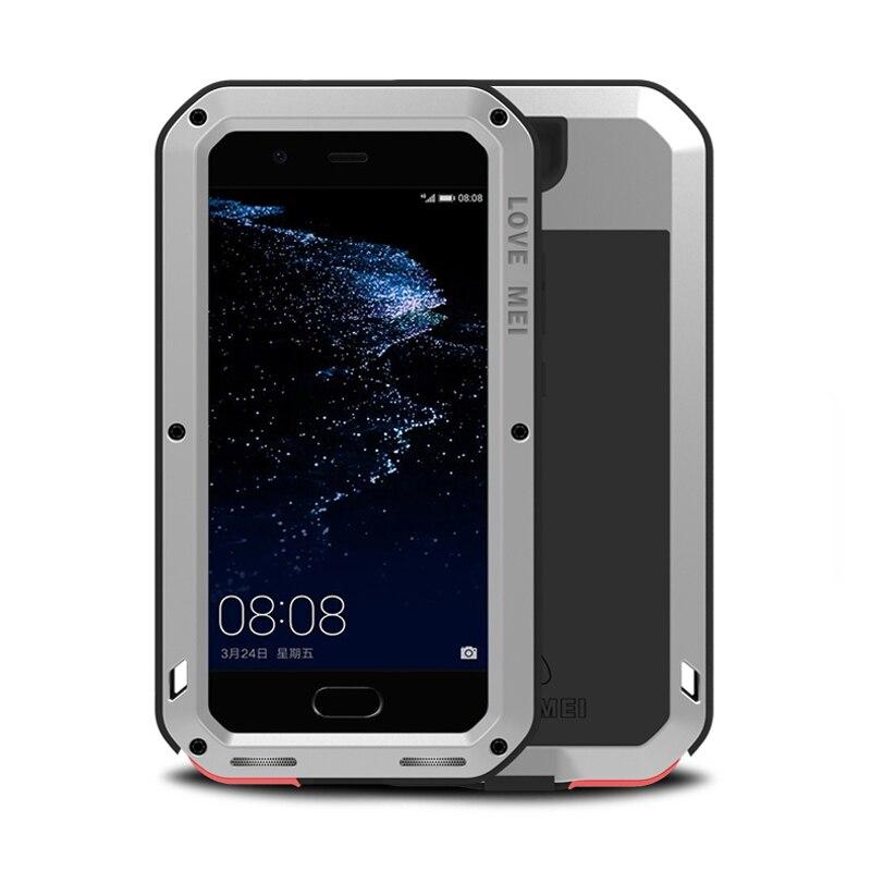 Pour coque Huawei P10 Plus p10plus Housse En Aluminium Imperméable Résistant Gorilla Glass Mobile Armor sFor capa Huawei P10 plus