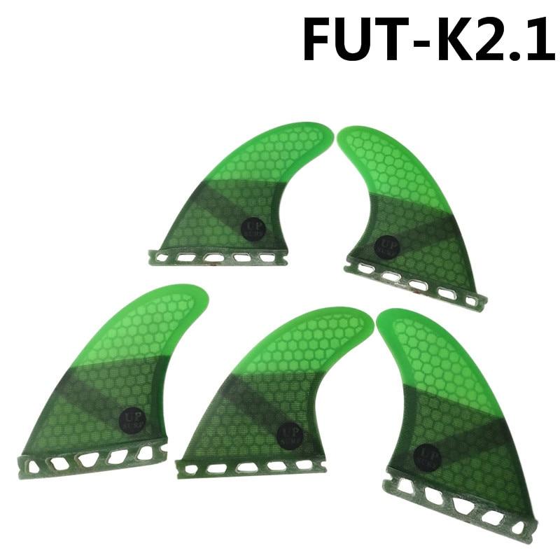 Quad Fin Set Future Aletas Fibra de Vidrio Aletas Thruster UPSURF Tabla de Surf Tri