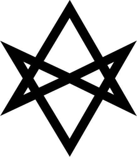 Thelema Sigil Vinyl Decal Window Sticker Religion Occult Aleister Crowley 15cm