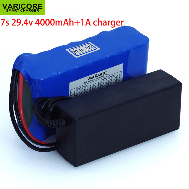 24V 4Ah 7S2P 18650 Battery li ion battery 29 4v 4000mAh electric bicycle moped electric lithium