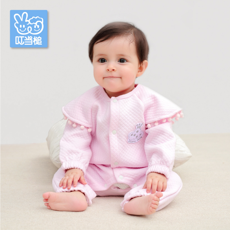 Dinstry Spring baby Rompers Clothing with printing one-piece girls' cute clothes babys one-piece