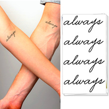M-Theory Always Love Wrist Temporary Body Art Flash Sticker 10.5x6cm Sticker Swimsuit Bikini Dress Choker Makeup