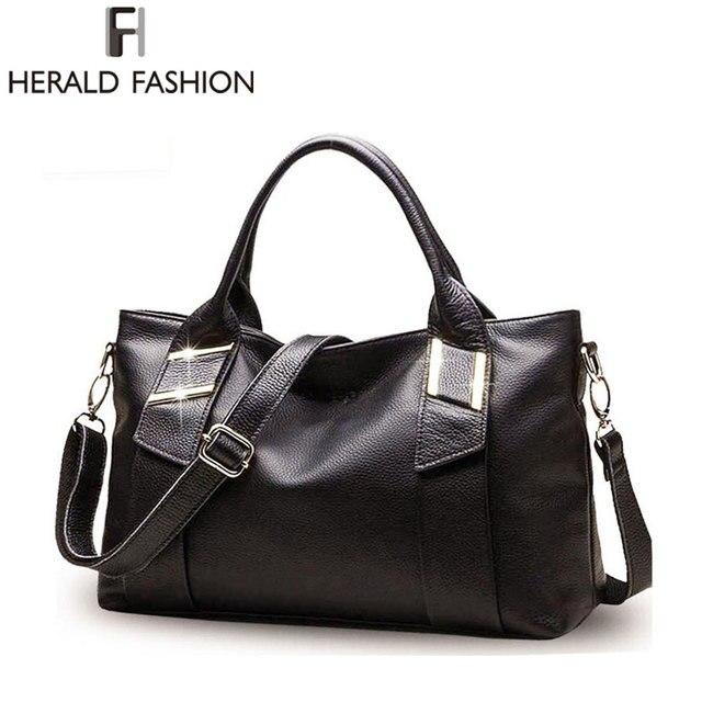 Leather Top-handle Women Hobos Bag Sequined Shoulder Bag  Big Femme Handbag Crossbody Lady Bags Herald Fashion sac a main marque