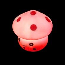 New Arrival Novelty Bedroom Kid Light Mini LED Light Mushroom Shaped Changing Colors Novelty font b