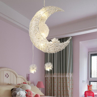 Dikale modern minimalist star moon children room lighting creative personality chandelier restaurant bedroom warm lighting