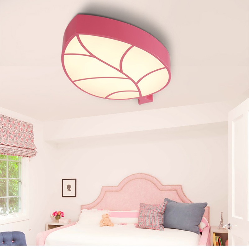 Ceiling Lights & Fans Bright Modern Creative Led Leaf Ceiling Lamp Simple Acrylic Light Study Childrens Room Bedroom Lighting Fixture Christmas Gift Cl169 Lights & Lighting