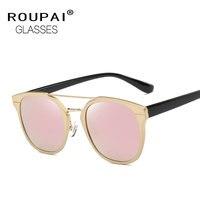 ROUPAI Vintage Style Men Women Polarized Sunglasses Retro Round Polariscope Eyewear Classic Oculos De Sol UV400 Lunettes EW149