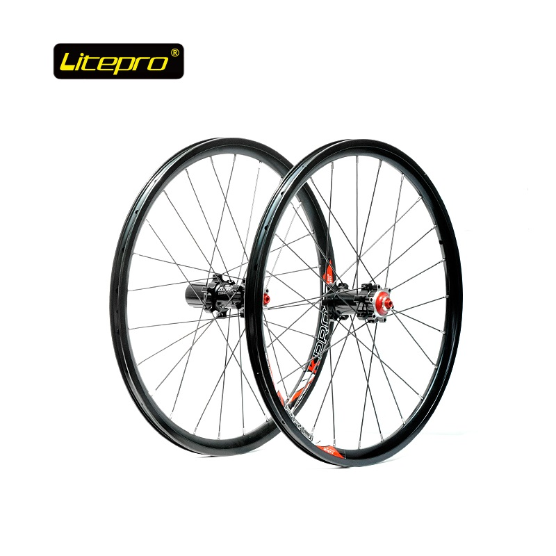 Bike Wheel Set Folding Bike 20inch 406 Disc Brake Wheelset 24H 4 Bearing Hub and Front Rear Quick Release new folding bike wheel set litepro 20inch 451 wheelset 74 100mm 130 135mm 14 16h 4beraing hub froth rear quick release wheels