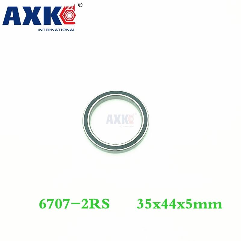 Axk 6707 Hybrid Ceramic Bearing 35*44*5 Mm Abec-1 ( 1 Pc) Industry Motor Spindle 6707hc Hybrids Si3n4 Ball Bearings 3nc <font><b>6707rs</b></font> image