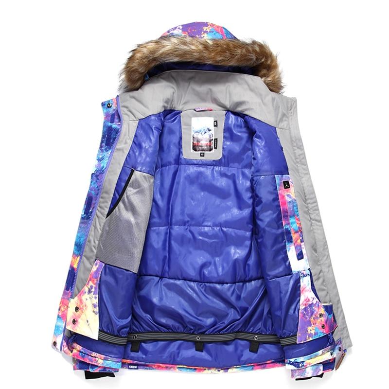 Offre spéciale et offre gsou wintersport ski snowboard veste femmes imperméable chaqueta nieve mujer neige vêtements ski jas dames - 2