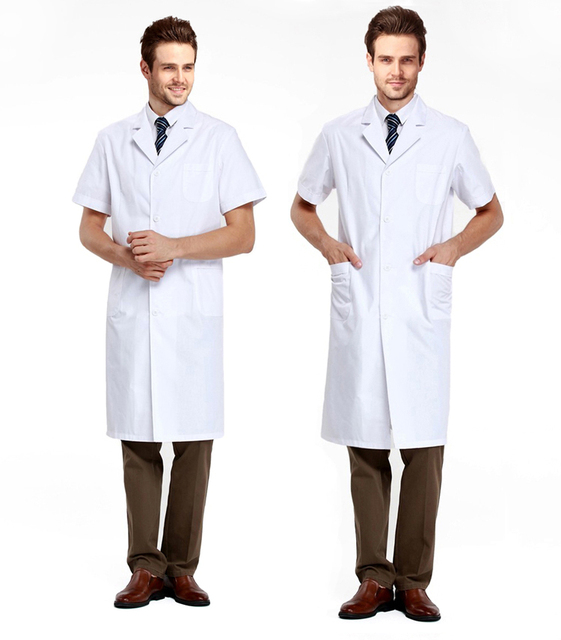 Free Shipping Short Sleeve White Lab Coat Medical Clothes Doctors ...