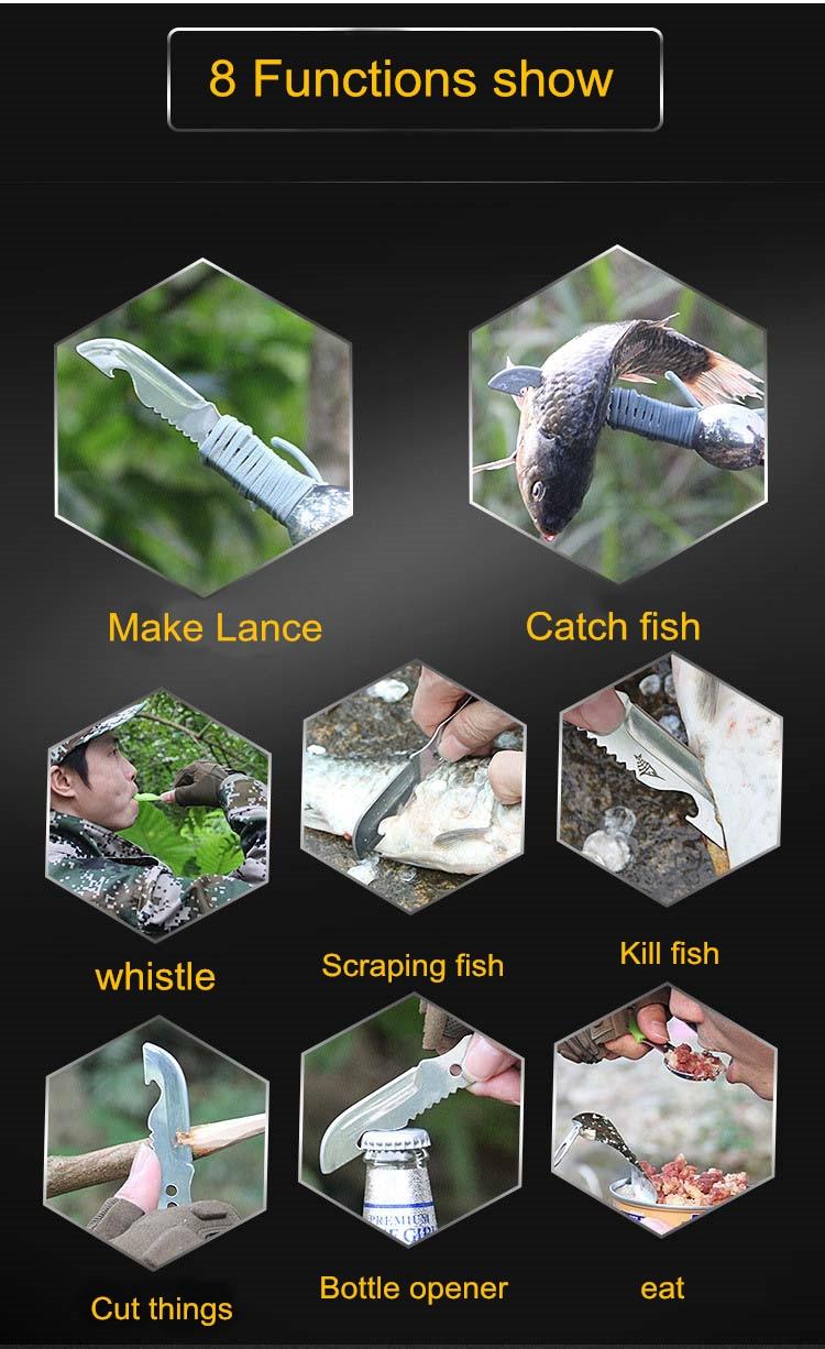 Survival kit set survive wristband pen edc tool backpack survival gadgets (5)