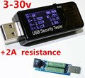 3-30 В USB ЖК Текущий Напряжение Зарядное Устройство Емкость метр тестер напряжения текущий мобильный детектор с 2А сопротивление