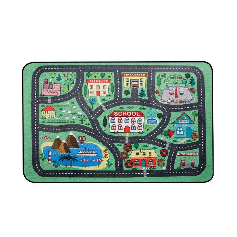 Épaisse ville ville couverture trafic bébé ramper tapis Polyester mousse escalade Pad vert route enfant tapis de jeu tapis pour bébé - 6