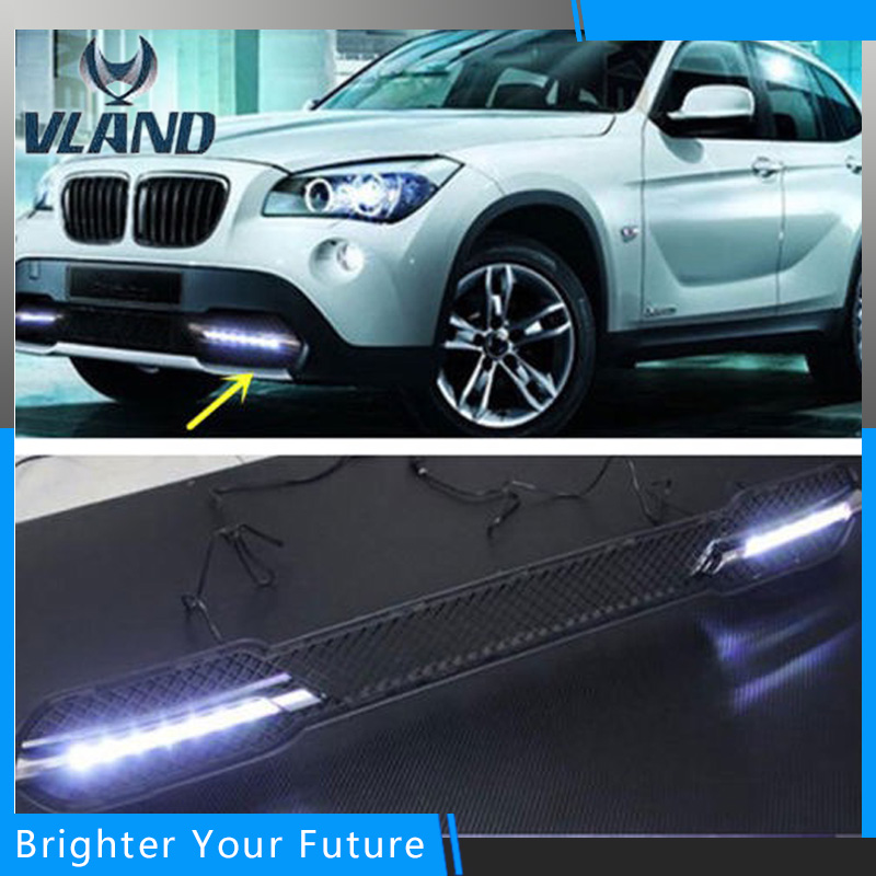 New LED Daytime Running Light For BMW X1 E84 White LED Driving Fog Lamp DRL Daylight  2011 2012