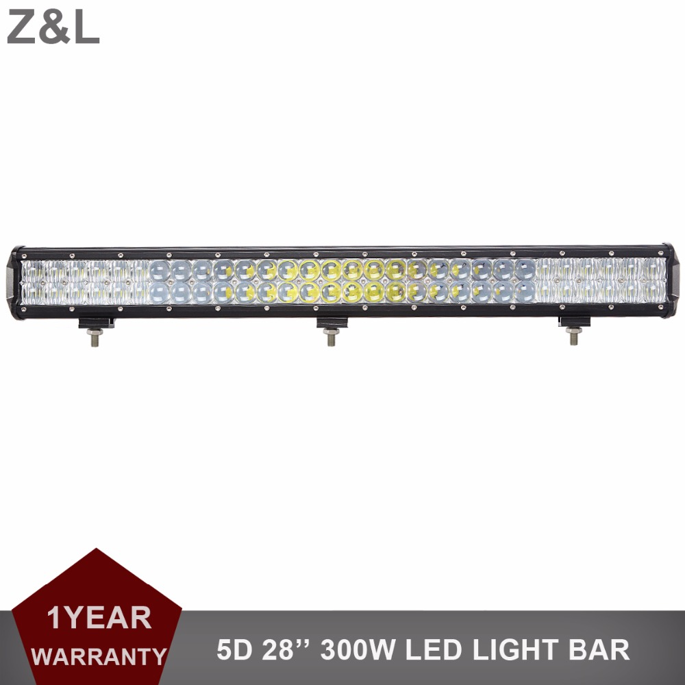5D 28'' 300W LED Light Bar Indicator Driving Lamp Offroad Boat Car Tractor Truck 4x4 SUV ATV Wagon Pickup Roof Bumper 12V 24V 50 offroad 324w led light bar bumper roof styling refit headlight 12v 24v car truck suv 4x4 trailer wagon camper pickup lamp