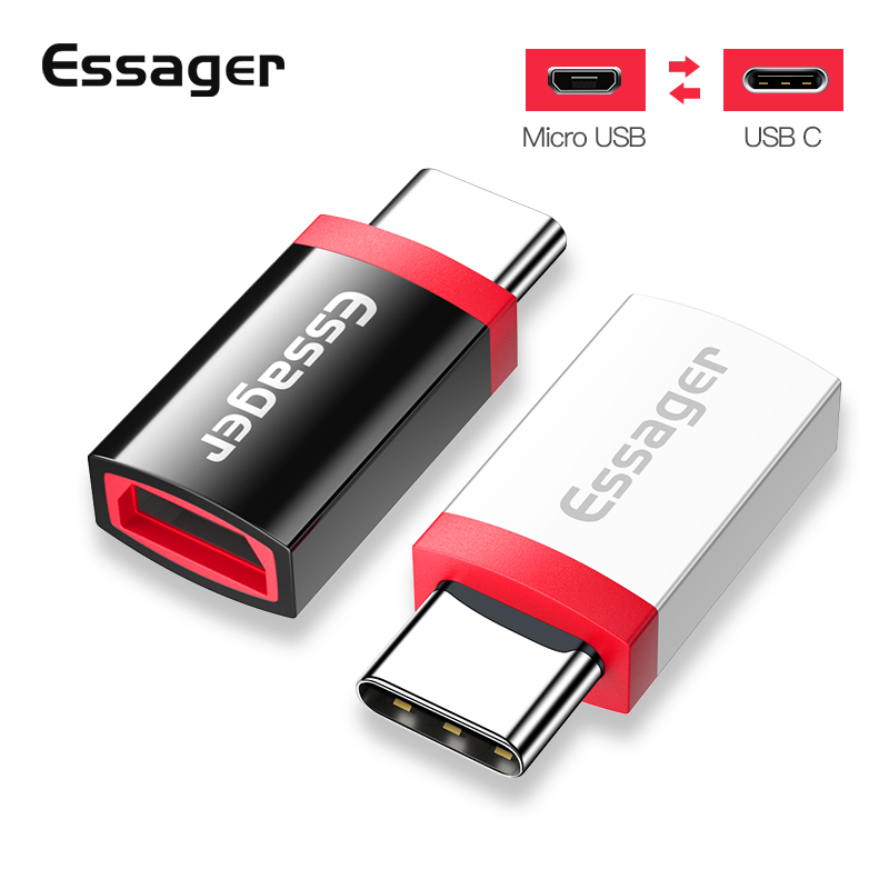 Essager Micro Usb To Type C Adapter Otg Cable For Xiaomi