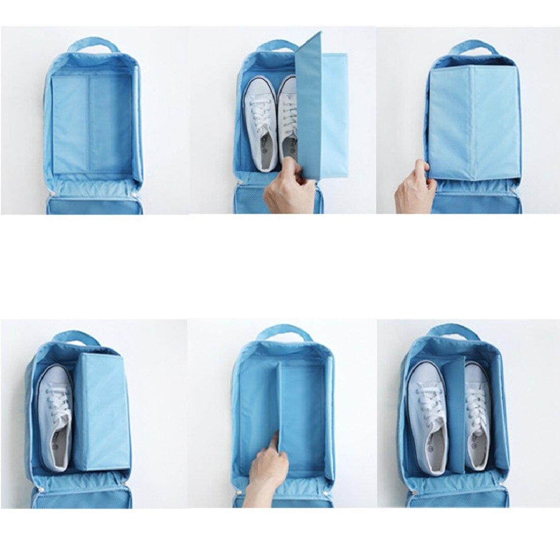 2016 New Waterproof Nylon Shoes Box Organizer Holder Closet Storage Clothes  Pouch Comestic Handbag Makeup(