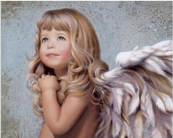 Hq Angel Painting Coloring By Number Pictures Wall Art Modern Oil