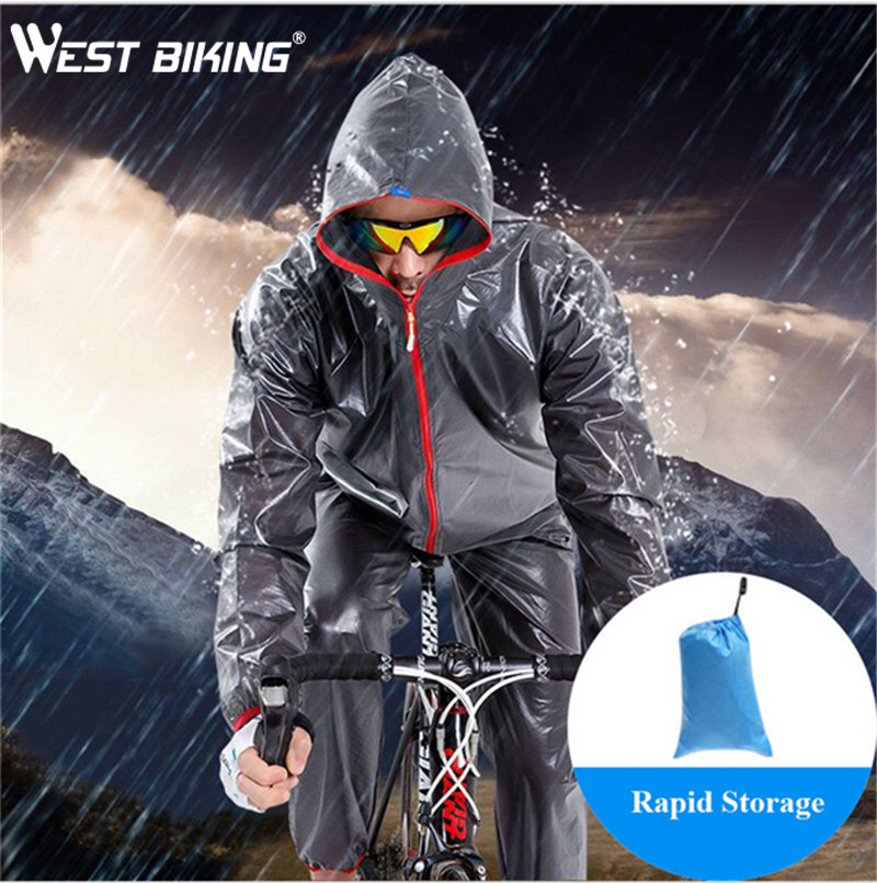 WEST BIKING Bike Raincoat Bicicleta Cycling Jersey Waterproof Sport Wielerkleding Jacket Women Men's Bike Bicycle Rain Coat