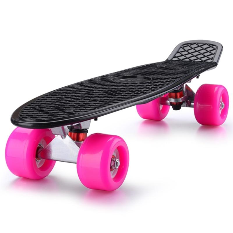 Mini Cruiser Skateboard Four wheel Anti slip Single Rocker Skate Board For Adult Children
