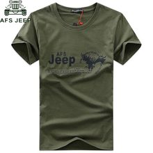 2018 AFS JEEP Brand Military T Shirt Men Clothing Short Sleeve O Neck T-shirts Summer Dress TShirt High Quality Men Tops Tees(China)