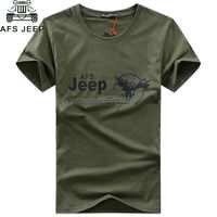 2018 AFS JEEP marque militaire t-shirt hommes vêtements à manches courtes col rond T-shirts d'été robe t-shirt haute qualité hommes hauts T-shirts