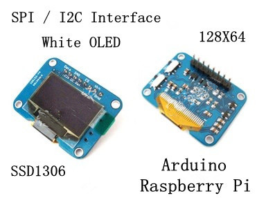 US $11 8 |Raspberry Pi 0 96 inch SPI White OLED Display Screen Module  SSD1306 Drive IC 128*64 I2C Interface 128*64-in LCD Modules from Electronic