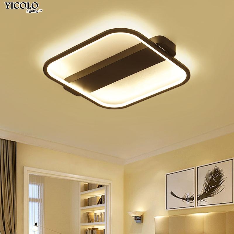 Пульт светодио дный светодиодный потолочный светильник с ультра-тонким акриловым потолочным светильником для гостиной
