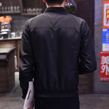 Casual Slim Stand Collar Bomber Jacket for Men