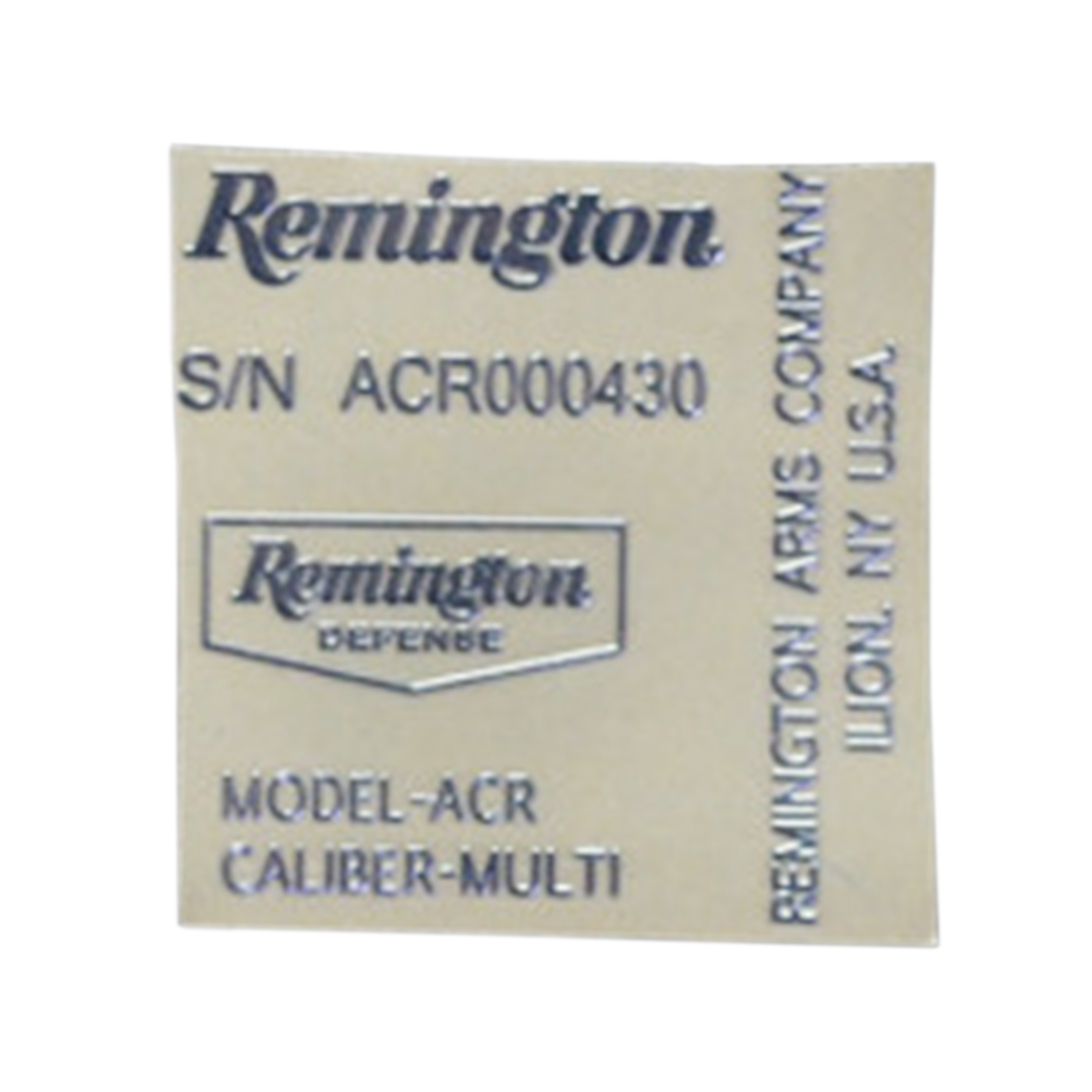 High Recommend Remington ACR Sticker Metal Decals For ACR Gel Blaster Drop Shipping Hot- White/Black/Silver