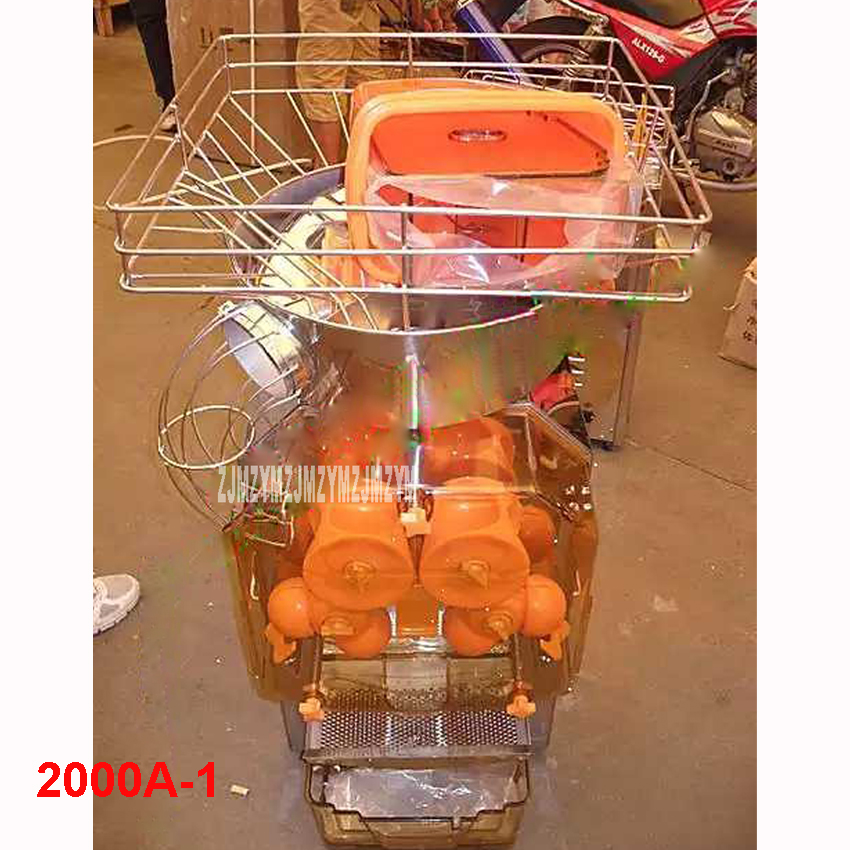 2000A 1 110V/220V Commercial Automatic Orange Juicer Machine; Pomegranate Squeezer,Citrus Juicer stainless steel 40 60 / min