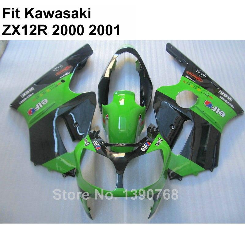 ჱAlta calidad ABS carenado para Kawasaki Ninja ZX12R 2000 2001 ...