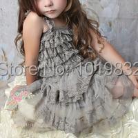 Infantile Fille Gris En Mousseline de Soie Robe, Shabby Chic ...