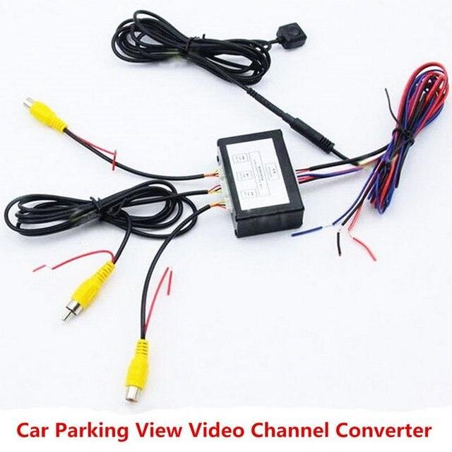 Commutateur vidéo pour système de caméra détecteur de stationnement de voiture avant et arrière avec câble vidéo 6M comprend un câble dalimentation manuel de lutilisateur