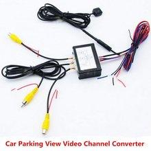 Video Switch Für Vorne Und Hinten Auto Parkplatz Detektor Kamera System Mit 6M Video Kabel Enthalten Benutzer Manuelle Power versorgung Kabel