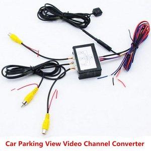 Image 1 - Video Switch Für Vorne Und Hinten Auto Parkplatz Detektor Kamera System Mit 6M Video Kabel Enthalten Benutzer Manuelle Power versorgung Kabel