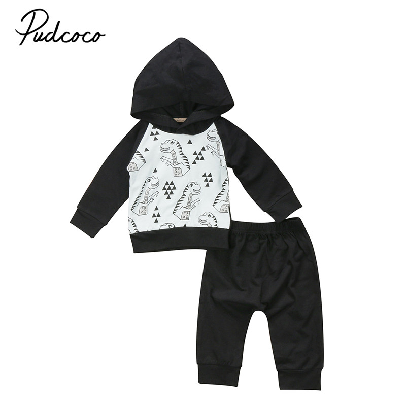0 to 24M Toddler Newborn Baby Boys Clothes High Quality Long Sleeve Hoodies Tops+Pants 2pcs Outfits Baby Clothing Set 0-24M