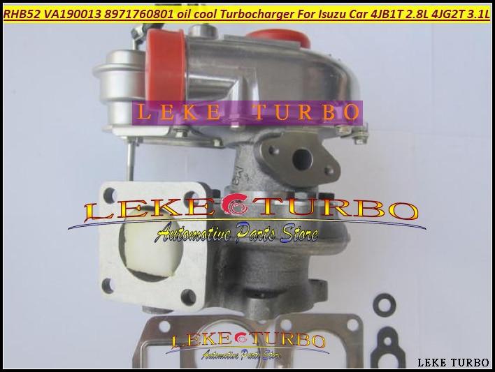 Wholesale NEW RHB5 VA190013 VICB 8971760801 Oil Cooled Turbo Turbine Turbocharger For ISUZU MIKADO Pickup 4JB1T 2.8L 4JG2T 3.1L
