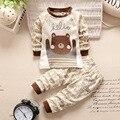 2016 Nuevo otoño del algodón del bebé ropa establece muchachos de los niños juegos lindos bebés tops + pants 2 unids conjunto infantil de la muchacha ropa