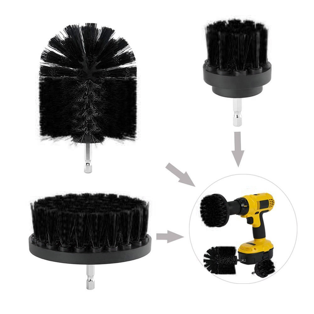Electric Drill Cleaning Brush Tile Grout Power Scrubber