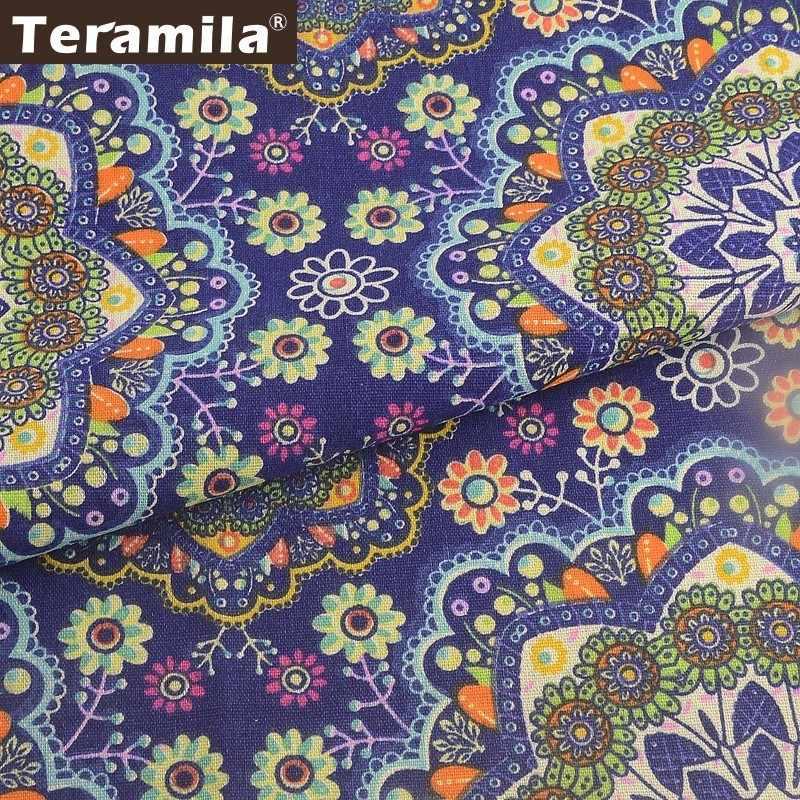 Teramila Panno di Cotone di Lino di Metri di Tessuto Ankara Africano Telas Tissu Tende FAI DA TE Patckwork Materiale Tovaglia Cuscino del Divano Borsa