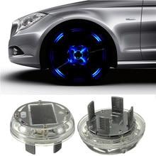 2015 New 4 Modes 12 LED Car Auto Solar Energy Flash Wheel Tire Rim Light Lamp Decoration 1999-2013