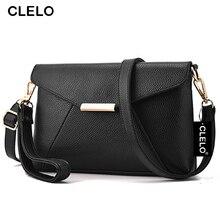 CLELO 2017 Black Women Bag Envelope Ladies Party PU Bags Ladies Shoulder Bag Female Crossbody Bag