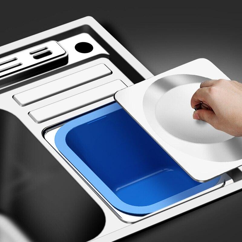304 edelstahl nano küche waschbecken zeichnung große einzigen schüssel slot becken pakete nehmen mülleimer rest teich - 4